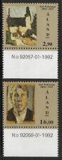 ALAND MNH 1992 SG60-61 BIRTH BICENTENARY OF JOEL PETTERSON SET OF 2
