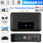 Transmitter Receiver Bluetooth 5.0 Wireless AUX NFC to 2 RCA Audio Adapter USB