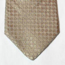 NEW Calvin Klein Silk Neck Tie Beige Tan with Circle Pattern 250