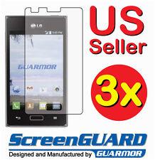3x LG Optimus Extreme 40G L40G LG40G Clear Screen Protector Guard Shield Film