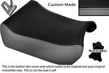 GREY & BLACK CUSTOM FITS SUZUKI GSXR 1100 89-98 FRONT LEATHER SEAT COVER