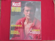 PARIS MATCH N° 1825 ALAIN DELON ROTHSCHILD KAPRISKY 1984