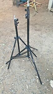 Professional Camera Tripod Stands LOT OF 2 NEWER ADJUSTS VERY SMALL TO VERY TALL
