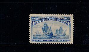 US Stamp SC# 233. MNG  NH. 1893. 4c  Columbian Ultra