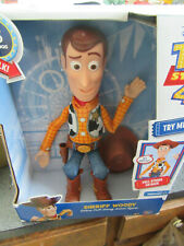 Disney Pixar Toy Story 4 Sheriff Woody Deluxe Pull-String Talking 30 sayings New