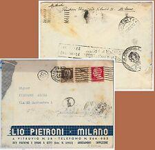 60061 - ITALIA REGNO  - STORIA POSTALE  -  PROPAGANDA GUERRA mista su BUSTA 1942