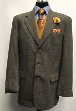 MS1145 PIERRE CARDIN MEN'S BROWN & BLACK 100% WOOL BLAZER JACKET SIZE 40L