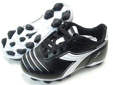 Diadora Cattura MD JR Youth Soccer Cleats Black White Shoes Toddler Kids Size 12