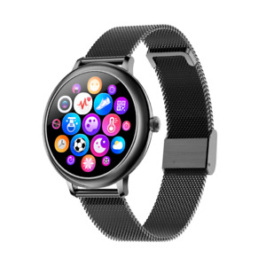 Smartwatch Precision Time Smart Round Mesh Pro Mujer