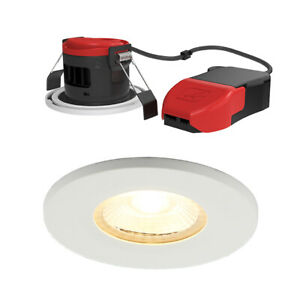 Ansell Lighting APRILED/WW Prism White Dimmable LED Fire Rated Downlight IP65