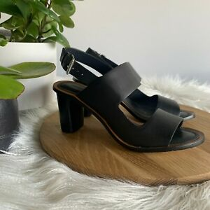 COUNTRY ROAD - SZ 39 ANNALISE heel leather black 8 [CR LOVE]