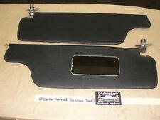OEM 1964 64 Cadillac Fleetwood SUN VISORS MOUNTING HINGES MIRROR BLACK