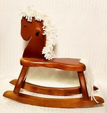 Vintage Wooden Miniature Rocking Horse Decor 11 X 10 X 4.