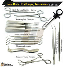 14 Pcs Basic Dental Operating Instruments Oral Surgery Tooth Extraction Set Kit
