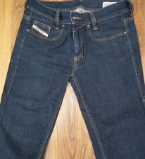 DIESEL LOWBOOT WOMEN STRETCH SLIM-BOOTCUT ZIP FLY DENIM BLUE JEAN 0881K 27x30