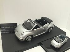 "Autoart 1:18/1:43 VW NEW BEETLE CABRIO ""REFLEX SILVER METALLIC"" 2 MODELS!!!"