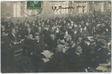 Carte photo. Congrès socialiste d'Amiens. Georges Épinette. 1914. Socialisme.