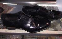 Yves Saint Laurent Rive Gauche Black Leather Men's Lace Up Size 41