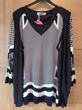 🥳 Tunique Femme Strass Noir Blanc Taille 60/62 Neuf Si Belle Et T4