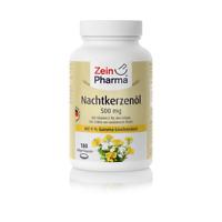 Nachtkerzenöl 500 mg (180 Kapseln) Gamma-Linolensäure Glycerin,RRR-alpha