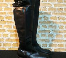 Ladies ALDO Black Leather Knee High Riding Boots UK 4.5 EURO 37.5 New