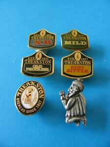 6, Theakston Beer Brewery Pin Badges. Unused. All Different. Last Set !