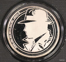 1990 Disney Calling Dick Tracy 1 oz Silver Limited Edition w/ Box & Coa