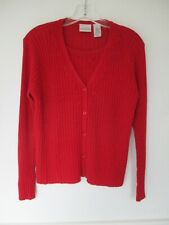 Villager Petite Women's Size Small Petite SP Solid Red Long Sleeve Sweater