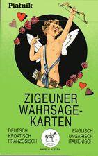 ZIGEUNER WAHRSAGEKARTEN - GER/CRO/FRA/ENG/HUN/ITA - PIATNIK WIEN No 1901 - NEU