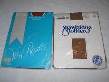 2 Pair Vintage Panty Hose Van Raalte Mocha and Strawbridge & Clothier Chantilly