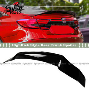 FITS 18-2021 HONDA ACCORD GLOSS BLACK JDM HIGHKICK STYLE DUCKBILL TRUNK SPOILER