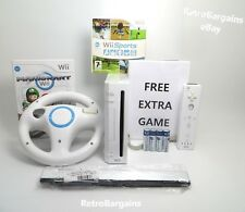 Nintendo Wii Console Mario Kart, Wii Sports Bundle - Free Delivery + Batteries