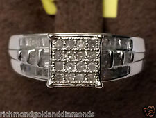 Baguette Round Diamonds Engagement Wedding Ring White Gold over Sterling Silver