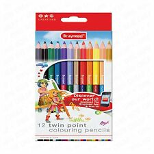Bruynzeel Twin Point Double Ended Colouring Pencils - Wallet of 12
