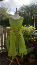 A fabulous Handmade ruched Alice dress in cactus