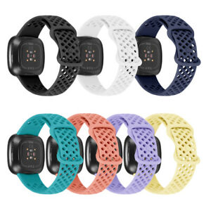 For Fitbit Versa 3/Sense Sports Silicone Watch Strap Band Wristband Replacement