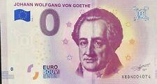 BILLET 0 EURO  JOHANN VON WOLGANG GOETHE  ALLEMAGNE 2018-1  NUMERO DIVERS
