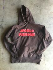 Supreme World Famous Bubble Hoodie sz Large Brown Red