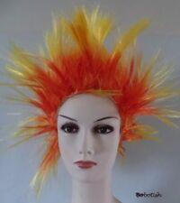 Short Spiky Punk Rocker 80s WIG Women ladies Multi coloured Fancy Dress Costume