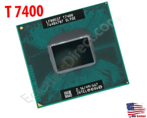 Intel Core 2 Duo T7400 2.16GHz/4MB/667MHz Processor Laptop Mobile CPU Socket M