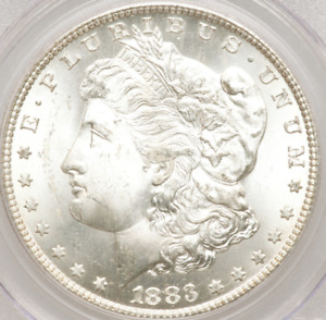 1883-CC Morgan Dollar PCGS MS64 Highly Reflective Surfaces, WHITE