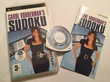 SONY PSP PORTABLE PLAYSTATION PUZZLE GAME CAROLE VORDERMAN'S SUDOKU COMPLETE