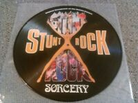 SORCERY - STUNT ROCK ' PICTURE DISC ' LP N. MINT!!! EURO MIE SOUNDTRACK CULT