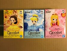 Q Posket Petit Belle Cinderella Princess Aurora Figure 3 Set Disney Qposket