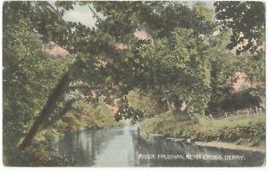 Old Postcard - River Faughan near Cross Derry - 1907