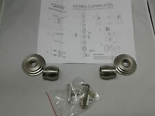 """GINGER"" SHOWER ROD BRACKETS, SATIN NICKEL, NIB, 4 AVAIL."