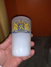 NETHERLANDS Provinces JE MAINTIENDRAI Coat of Arms MILK GLASS Tumbler FREE SHIP
