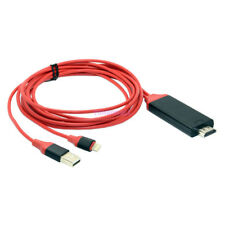 8-pin 2M Red Lightning to HDMI HDTV AV Cable Adapter for iPhone 5 6s 7 plus iPad