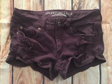 "AMERICAN EAGLE OUTFITTERS ""SHORTIE"" PURPLE SHORTS WOMENS SIZE 4 STRETCH"