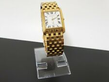 BULOVA ACCUTRON SWISS MADE 27A44 CASUAL MEN'S WATCH GOLD PLATED WHITE DIAL